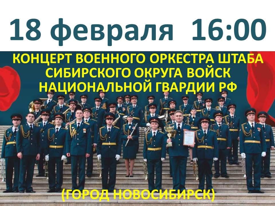 Концерт военного оркестра 18.02.2019